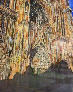 Coucher de soleil sur la Cathédrale de Strasbourg - DELAPORTE Eric